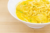 Thai Noodle Curry Soup — Stockfoto