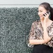 Woman calling by phone — Stock Photo