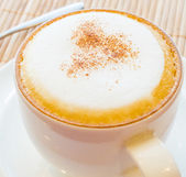 Hot cappuccino — Stock Photo