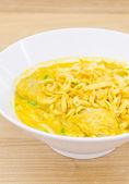Thai Noodle Curry Soup — Stock Photo
