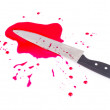 Knife blood — Stock Photo