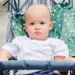 Baby in cart — Stock Photo