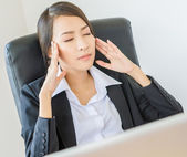 Business women Headache — Stock Photo