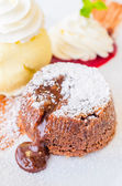 Chocolate lava — Stockfoto