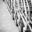 Wheel shopping cart — Stock Photo