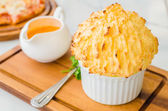 Cheese souffle — 图库照片