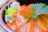 Salmon rice — Stock Photo