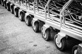 Wheel shopping cart — Stock Photo