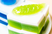 Thai coconut jelly — Stock Photo