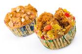 Fruit banana cupcake — Stock Photo