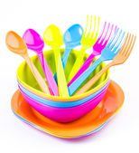 Color tableware — Stock Photo