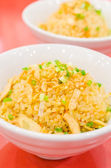 Fried garlic rice — Stock Photo