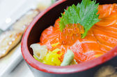 Salmon rice — Stock Photo