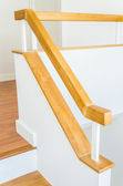 Wood staircase interior — Stock Photo