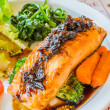 Steak salmon — Stock Photo