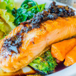 Steak salmon — Stock fotografie