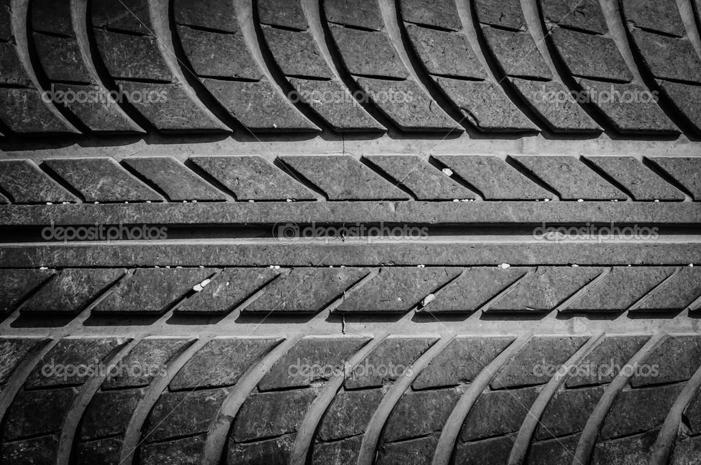 作为背景使用的轮胎纹理– 图库图片