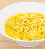 Thai Noodle Curry Soup — Stock Photo