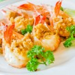 Stock Photo: Prawn garlic yaki