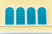 Windows on wall — Stockfoto