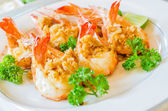Prawn garlic yaki — Stock Photo