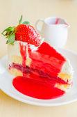 Fraise gâteau — Photo