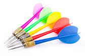 Color darts on isolated white background — Stock Photo