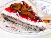 Gâteau au fromage aux bleuets — Photo