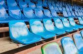 Assentos do Estádio vazio — Fotografia Stock