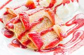 Frittelle di fragola — Foto Stock