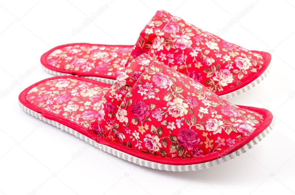 Red House shoes , slippers on isolated white background — Stock ...