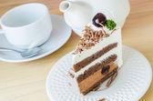 Torta al cioccolato con amarena — Foto Stock