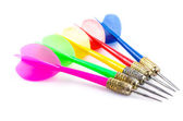 Color darts isolated on white background — Stock Photo