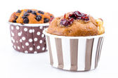 Cranberry cupcake — Stock Photo