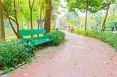 Lavička v parku — Stock fotografie