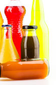 Soft bottle drink isolated white background — Stock Photo