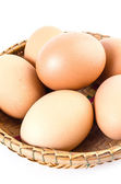 Egg on white background — Stock Photo