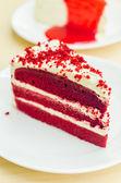 Velvet red cake — Stock Photo