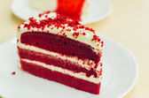 Velvet red cake — Stock Photo