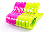 Clothespin clips — Zdjęcie stockowe