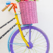 Bicycle with basket — Stock Photo #39292977