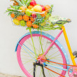 Bicycle with basket — Stock Photo #39293019