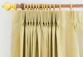 Brown curtains — Stock Photo