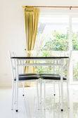 Table chairs — 图库照片