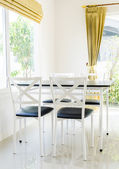 Table chair dining — Stok fotoğraf