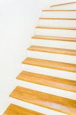 Wood staircase interior — Stock Photo