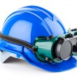 Stock Photo: Safety helmet and goggles