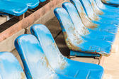 Empty stadium seats — Stockfoto