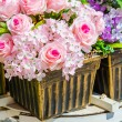 Stock Photo: Flower trolley