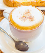 Hot cappuccino — Stock Photo